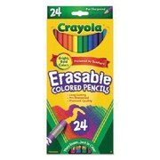 Crayola Erasable Colored Pencil, Assorted, 24/Pack (68-2424)