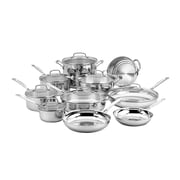 Cuisinart® Chef's Classic Stainless Steel 17-Piece Cookware Set, Black (77-17N)