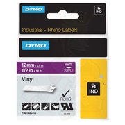 "Dymo® Rhino 1805415 0.47"" Color Coded Label Tape, White on Purple"