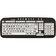 Ergoguys® Wired USB Large Print Keyboard, Black/White (CD1043)