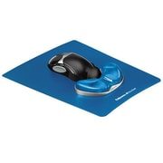 "Fellowes® Gel ABS 9""H x 11""W Blue Mouse Pad/Wrist Rest, 9180601"