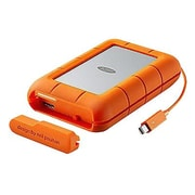 LaCie Rugged RAID STFA4000400 4TB USB 3.0/Thunderbolt Portable External Hard Drive, Gray/Orange