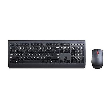 lenovo professional laser usb wireless keyboard and mouse combo black 4x30h56796 staples. Black Bedroom Furniture Sets. Home Design Ideas