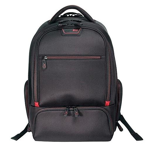 Mobile Edge Laptop Backpack, Black with Red Trim Nylon (MEPBP1)