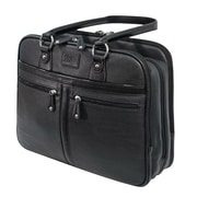 Mobile Edge® Verona Black Vegan Leather/Cotton Twill Laptop Tote (MEWVLB)