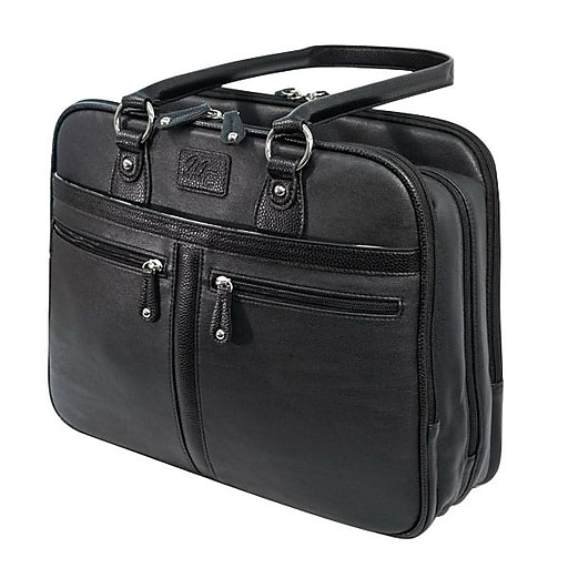 Mobile Edge Laptop Case, Black Leather (MEWVLB)