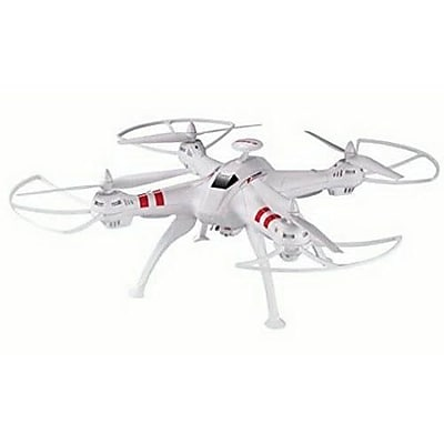 MYEPADS FPV Large RC Quadcopter Toy with 2MP WIFI Live Camera, White, 12 Years and Up (DRONE-X15W)