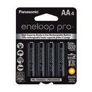 Panasonic® Eneloop™ Pro AA Nickel Metal Hydride General Purpose Rechargeable Battery, 2550 mAh , 4/Pack (BK-3HCCA4BA)