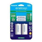 Panasonic® AA Nickel Metal Hydride General Purpose Battery with 2 x D Spacers, 2000 mAh, 2/Pack (K-KJS1MCA2BA)