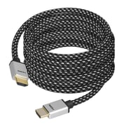 SIIG®CB-H20H12-S1 5 m HDMI Male/Male Woven Braided High Speed Cable, Black/White