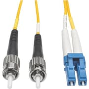 Tripp Lite® N366 164' Single-Mode Fiber Duplex LC to ST Male/Male Patch Cable, Yellow