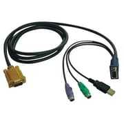 Tripp Lite® P778-015 15' HD15 to USB A Male/Male Combo KVM Cable for B020-U08-19-K/B020-U16-19-K KVM Switches