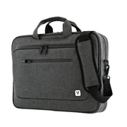 V7® Classic Slim Gray Nylon Laptop Carrying Case (CTPX6-1NC)