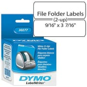 "Dymo® 30277 0.56"" File Folder Label Roll, White"