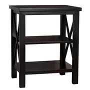 Porthos Home Luca 22'' Accent Shelves Bookcase; Black