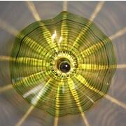 Viz Glass 1-Light Wall Sconce; 12'' H x 12'' W x 7'' D