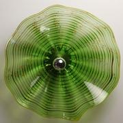 Viz Glass 1 Light Wall Sconce; 21'' H x 21'' W x 7'' D