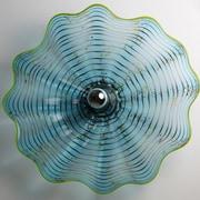Viz Glass 1-Light Wall Sconce; 21'' H x 21'' W x 7'' D