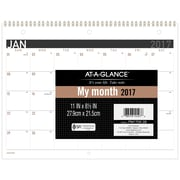 """2017 AT-A-GLANCE® Contemporary Monthly Desk/Wall Calendar, 12 Months, 11"""" x 8 1/2"""", Wirebound (PM170X-28-17)"""