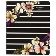 "2017 AT-A-GLANCE® Monique Premium Weekly/Monthly Appointment Book/Planner, 13 Months, 8 1/2"" x 11"", Stripe Floral (578-905-17)"