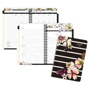 "2017 AT-A-GLANCE® Monique Weekly/Monthly Planner, 13 Months, 5 1/2"" x 8 1/2"", Stripe Floral (578-200-17)"