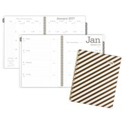 "2017 AT-A-GLANCE® Glitz & Glam Weekly/Monthly Planner, 12 Months, 8 1/2""x 11"", Stripes Design (138S-905-17)"