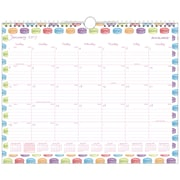 "2017 AT-A-GLANCE® Sweet Shop Macaroon Monthly Wall Calendar, 12 Months, 14 7/8"" x 11 7/8"", Wirebound (W168-707-17)"