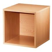 Hazelwood Home Carrabba Storage Cube 15'' Cube Unit Bookcase; Honey