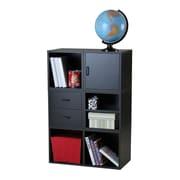Hazelwood Home Carrabba Storage Cube 45'' Cube Unit Bookcase; Black