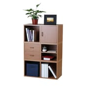Hazelwood Home Carrabba Storage Cube 45'' Cube Unit Bookcase; Honey
