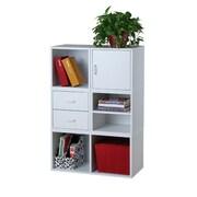 Hazelwood Home Carrabba Storage Cube 45'' Cube Unit Bookcase; White