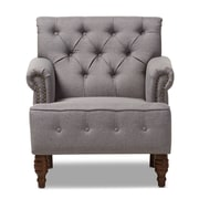 Wholesale Interiors Maria Club Chair; Light Gray