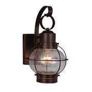 Vaxcel Nautical 1 Light Outdoor Wall Lantern; Burnished Bronze
