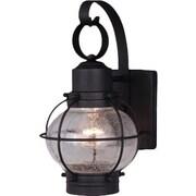 Vaxcel Nautical 1 Light Outdoor Wall Lantern; Textured Black