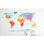 The Lovely Wall Company Our Incredible World Die Cut Map Wall Decal