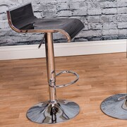 Vogue Furniture Direct Adjustable Height Swivel Bar Stool; Black