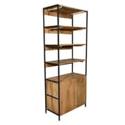 Home and Garden Direct Open Plus Closed Storage Unit Bookcase; 84'' H x 33'' W x 17'' D