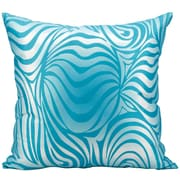 Kathy Ireland Home Gallery Indoor/Outdoor Throw Pillow; Turquoise