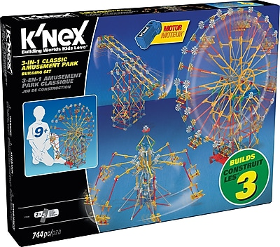 K'NEX 3-In-1 Classic Amusement Park Building Set