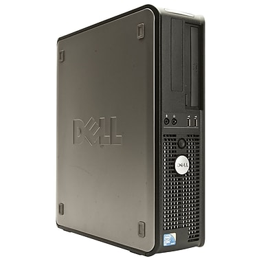Dell Optiplex (760 DT) Refurbished Desktop, Intel Core 2 Quad 2.33GHz, 4GB RAM, 250GB HDD, DVD-ROM, English