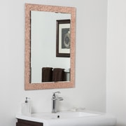 Decor Wonderland Copper Leaf Bathroom Mirror