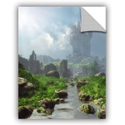 ArtWall Distant Castle Wall Mural; 48'' H x 36'' W x 0.1'' D
