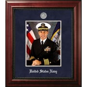 PATF Navy Portrait Executive Picture Frame; Silver