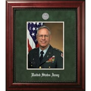 PATF Army Portrait Executive Picture Frame; Silver