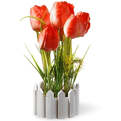National Tree Co. Faux Tulips in Pot WYF078279567223