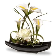 National Tree Co. Rose and Calla Lilies Flowers in Planter