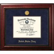 PATF Navy Discharge Executive Picture Frame; Silver