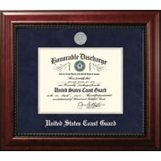 PATF Coast Guard Discharge Executive Picture Frame; Silver