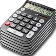 Office + Style 8 Digit Calculator- Black 6 Pack