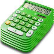 Office + Style 8 Digit Calculator- Green 6 Pack